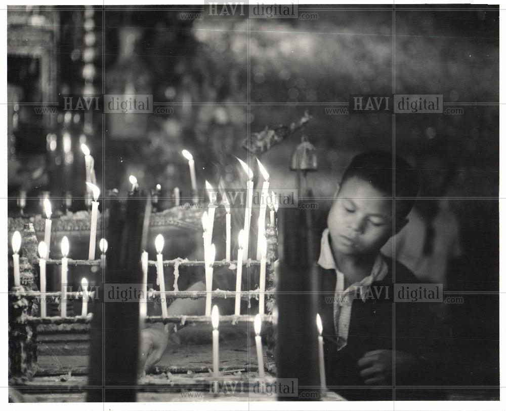 Press Photo Buddhist temple, Bangkok - Historic Images