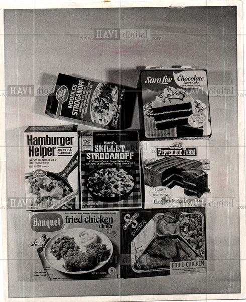 Press Photo Frozen meals and convenience foods - Historic Images