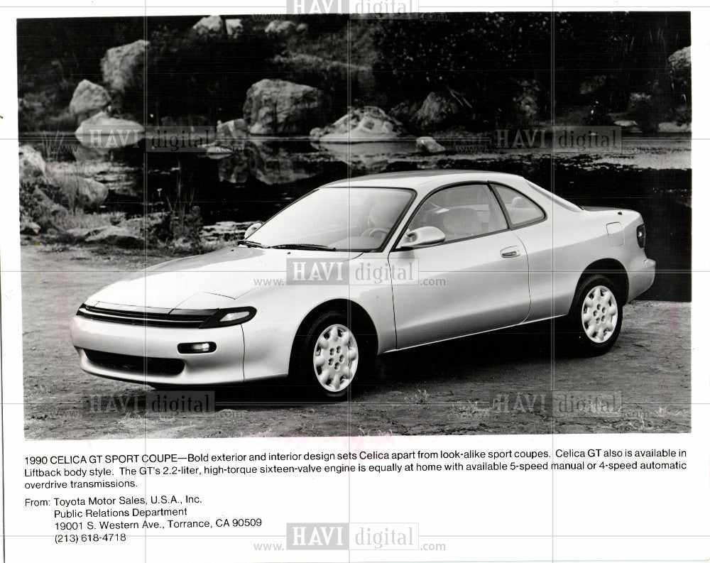 1989 Press Photo Toyota, Celica GT - Historic Images