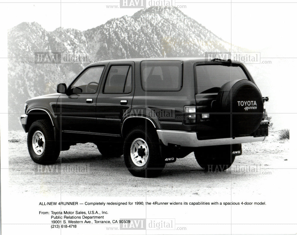 1989 Press Photo 4Runner, 1990, toyota, SUV, car - Historic Images