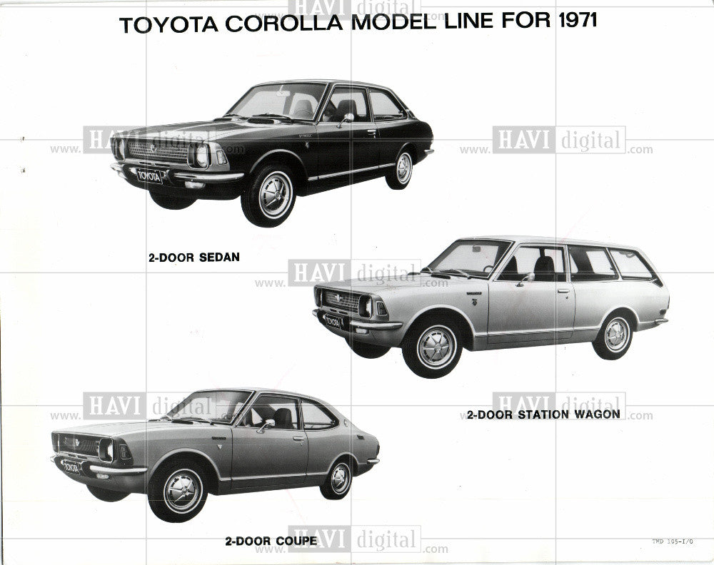 1970 Press Photo Toyota Corolla 1971 - Historic Images