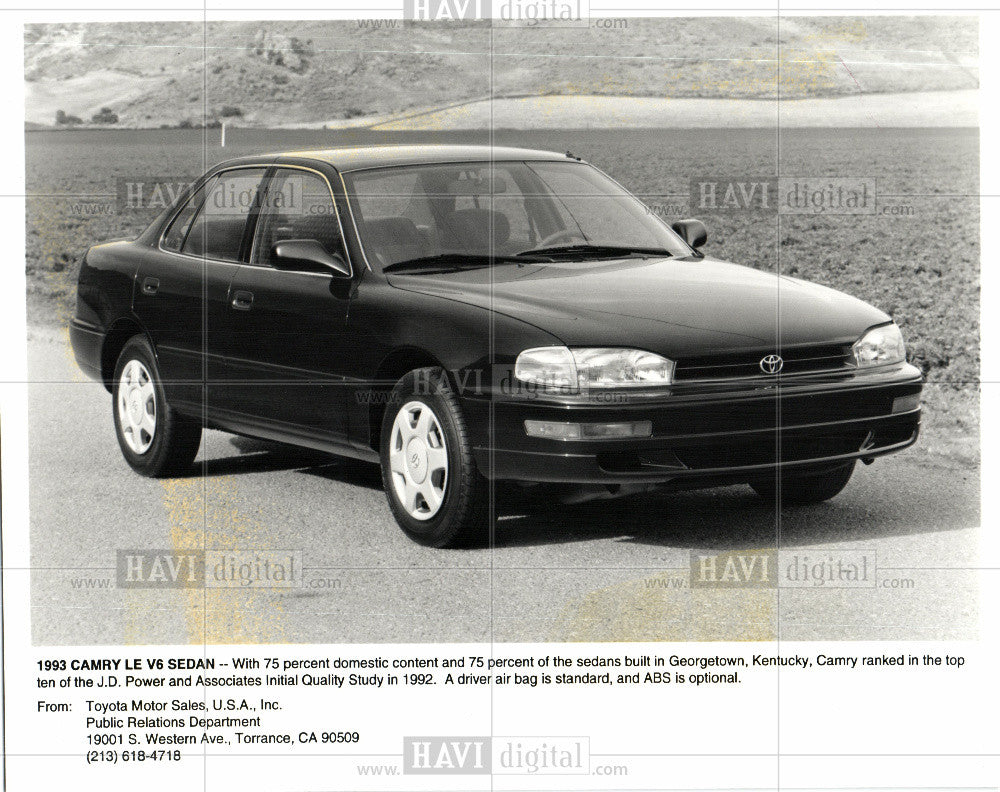1993 Press Photo Toyota Camry automobile sedan - Historic Images