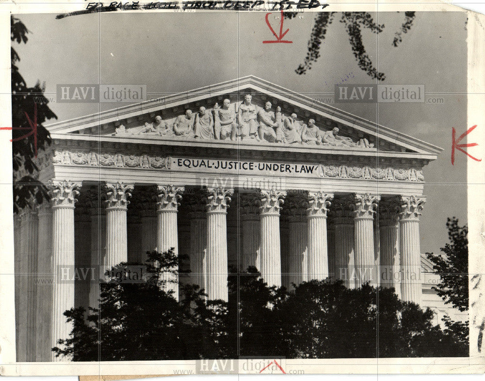 1965 Press Photo seat of the Supreme Court of the U.s - Historic Images