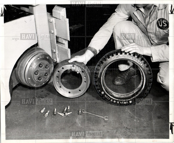 1958 Press Photo United States Rubber - Historic Images