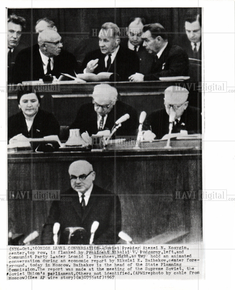 1967 Press Photo United Nations Alexei N. Kosygin - Historic Images
