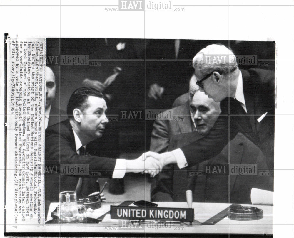1965 Press Photo US AMBASSADOR ARTHUR J GOLDBERG - Historic Images