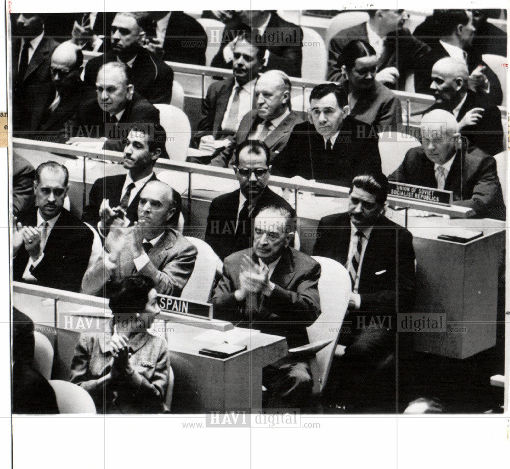 1960 Press Photo United Nations - Historic Images
