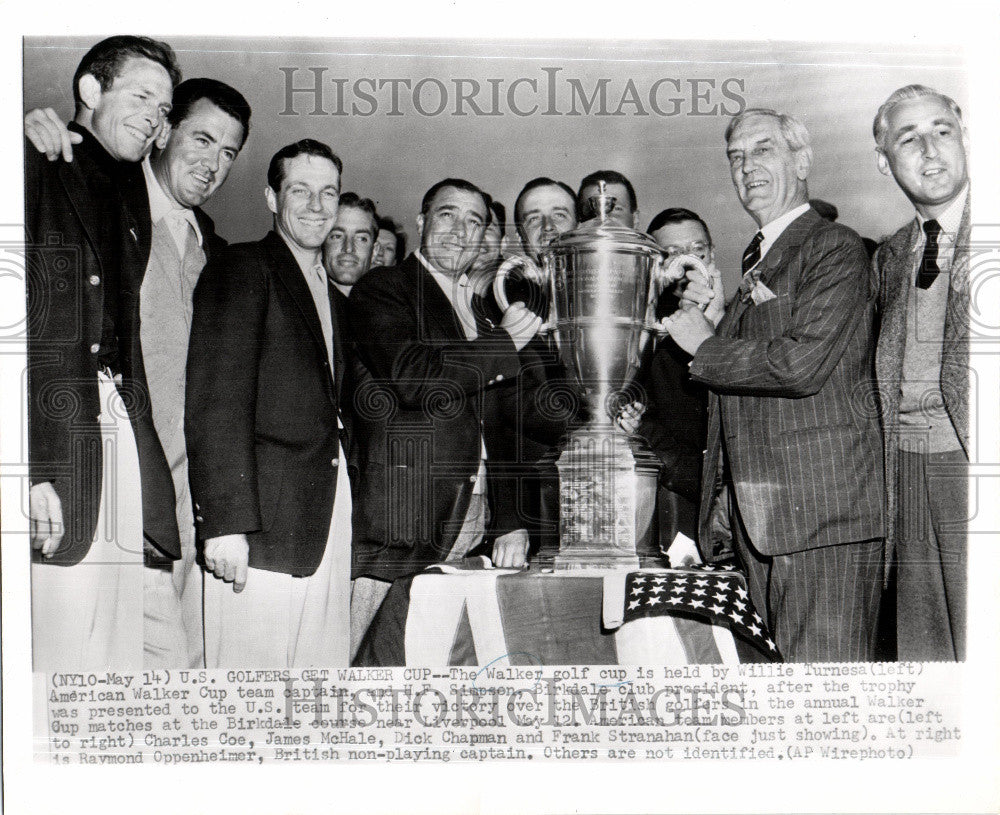 1951 Press Photo Walker Cup - Historic Images