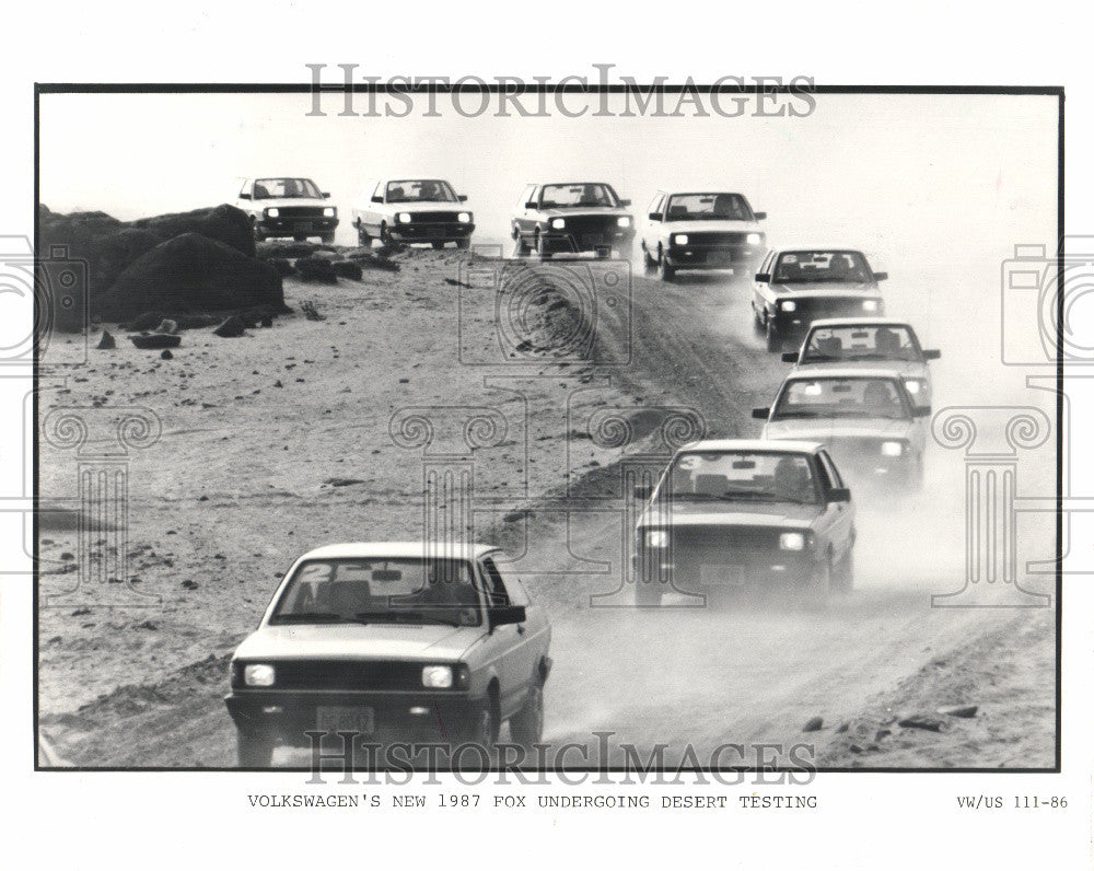 1986 Press Photo Volkswagon 1987 Fox - Historic Images