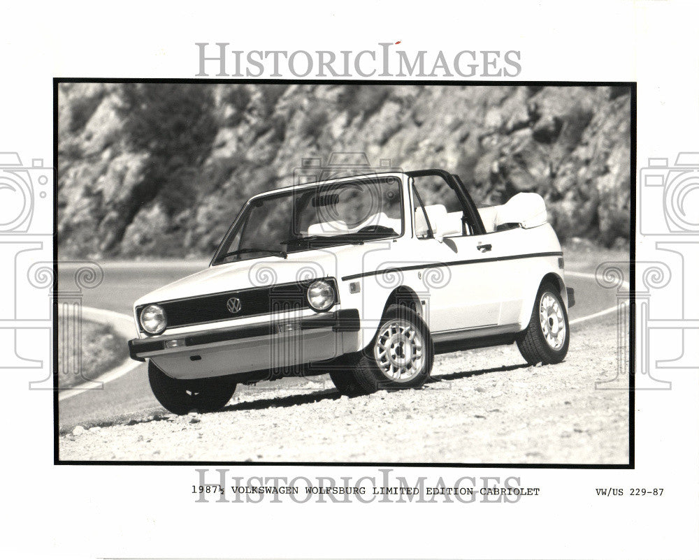 1987 Press Photo Wolfsburg Limited Edition Volkswagen - Historic Images