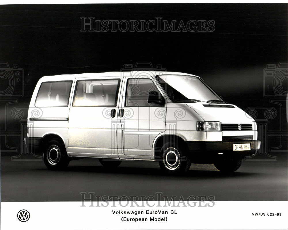 1992 Press Photo Volkswagon EuroVan CL Euopean Model - Historic Images