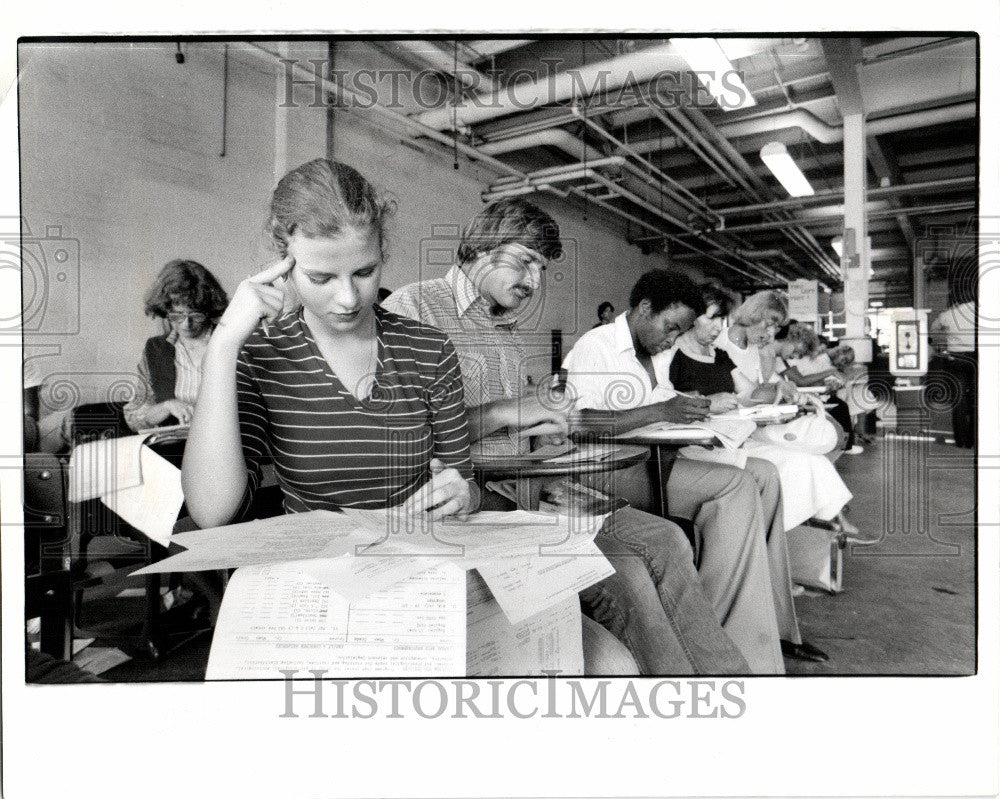 Press Photo Wayne State University Detroit College - Historic Images