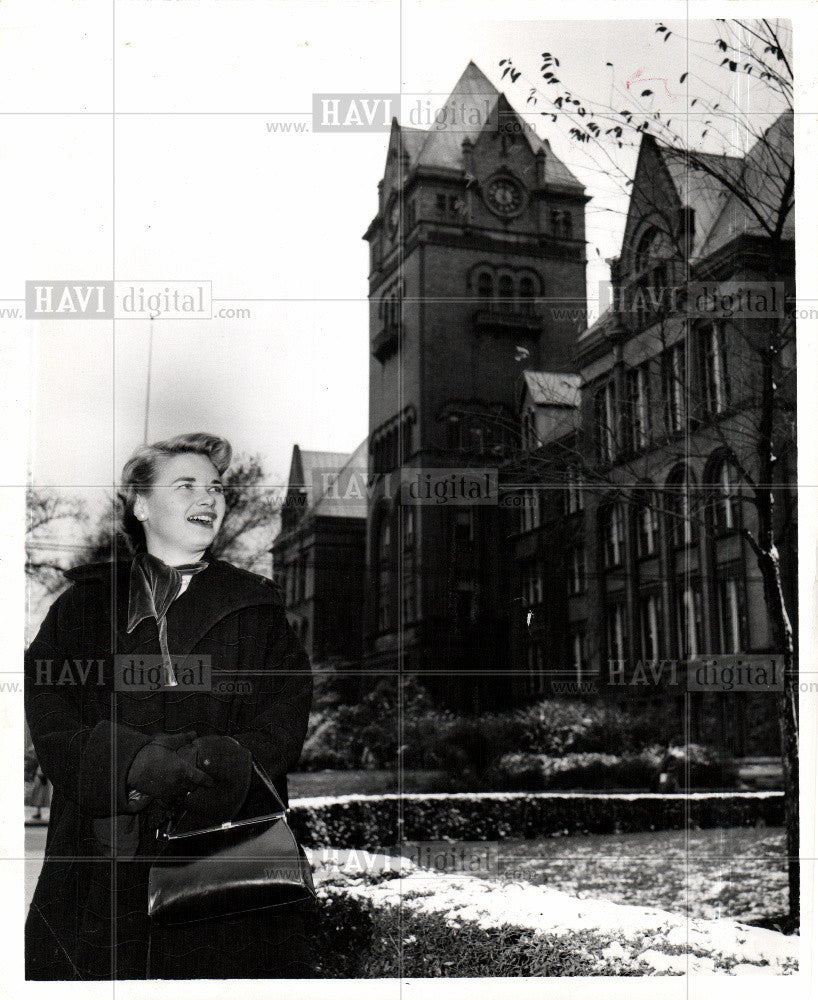 1955 Press Photo Wayne University - Historic Images