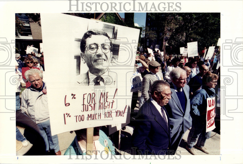 1988 Press Photo Wayne State University Protest - Historic Images