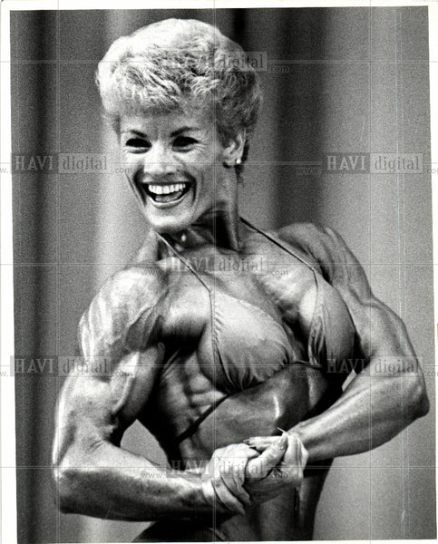 1985 Press Photo Velma Buckles, body builder - Historic Images