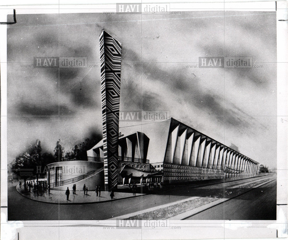 1957 Press Photo Belgian - Historic Images