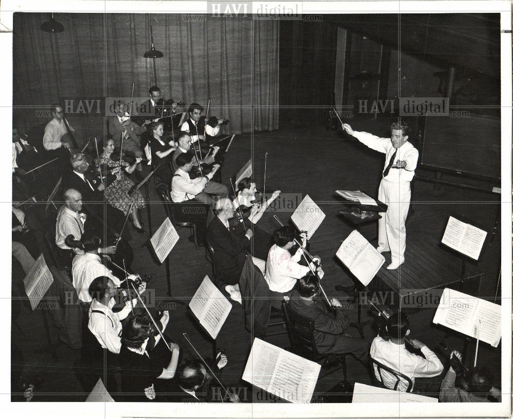 1940 Press Photo music Michigan 1940 band youths - Historic Images