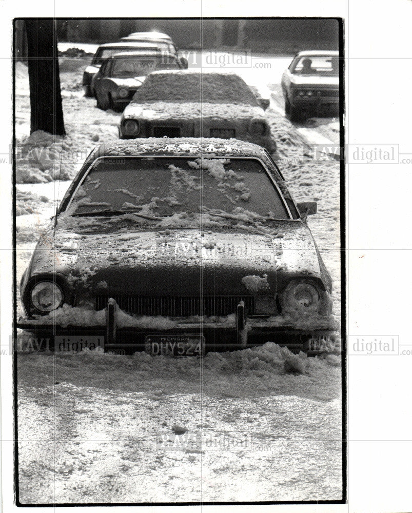 1977 Press Photo Winter Scene - Historic Images