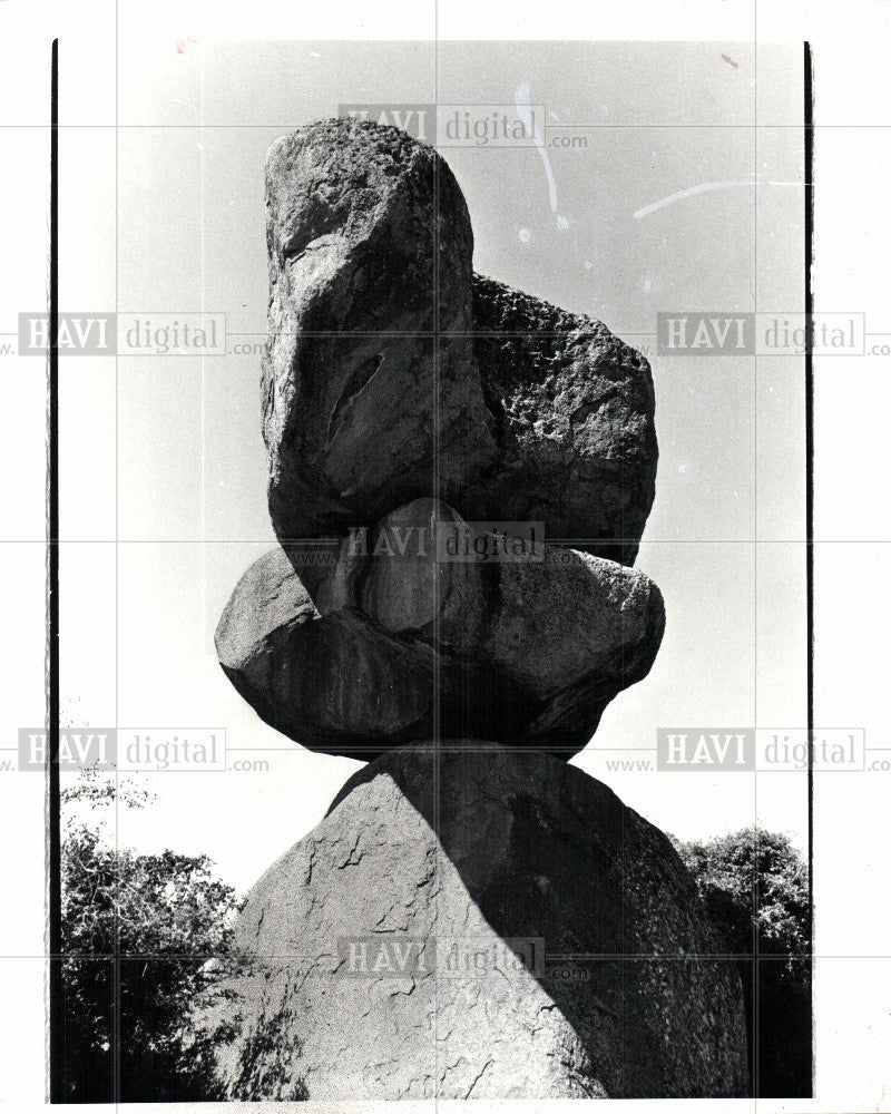 1982 Press Photo God's Rocks Epworth Zimbabwe Africa - Historic Images