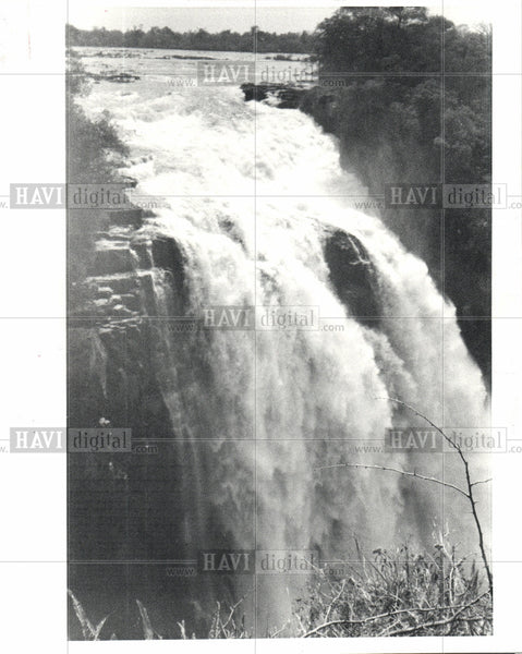 1981 Press Photo Victoria Falls Zimbabwe - Historic Images