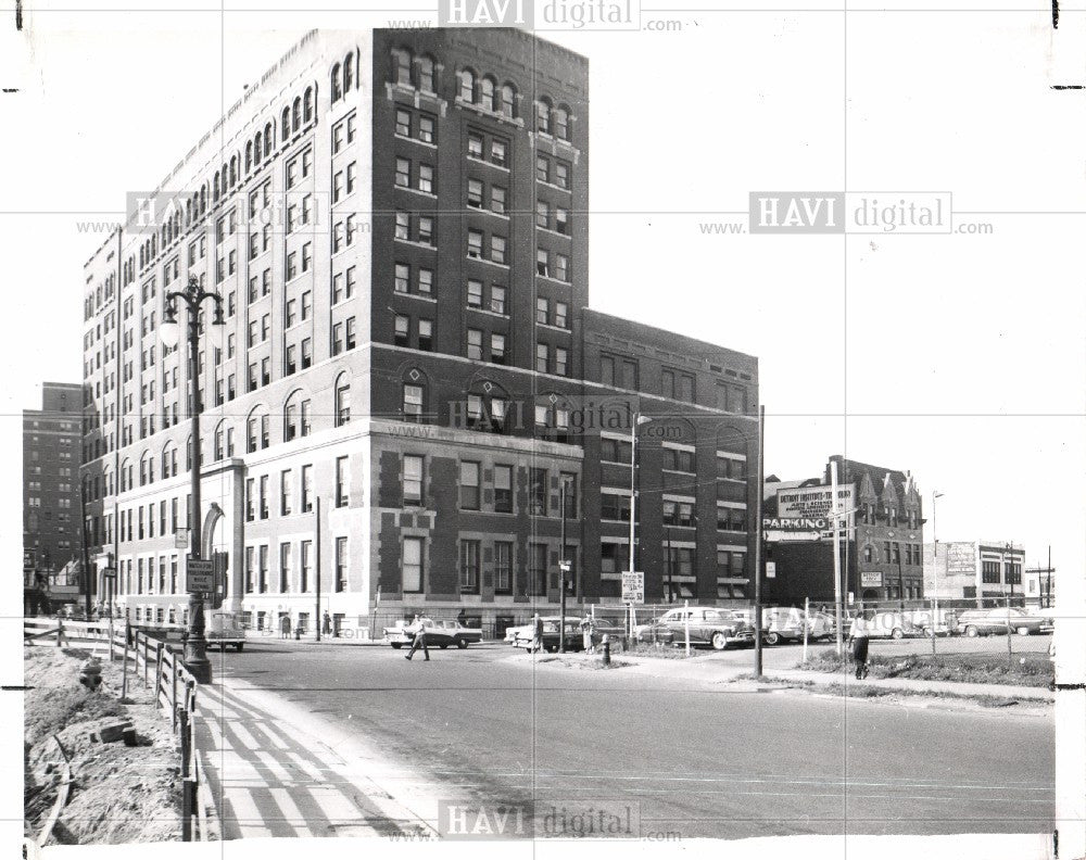1957 Press Photo Detroit Institute Technology building - Historic Images