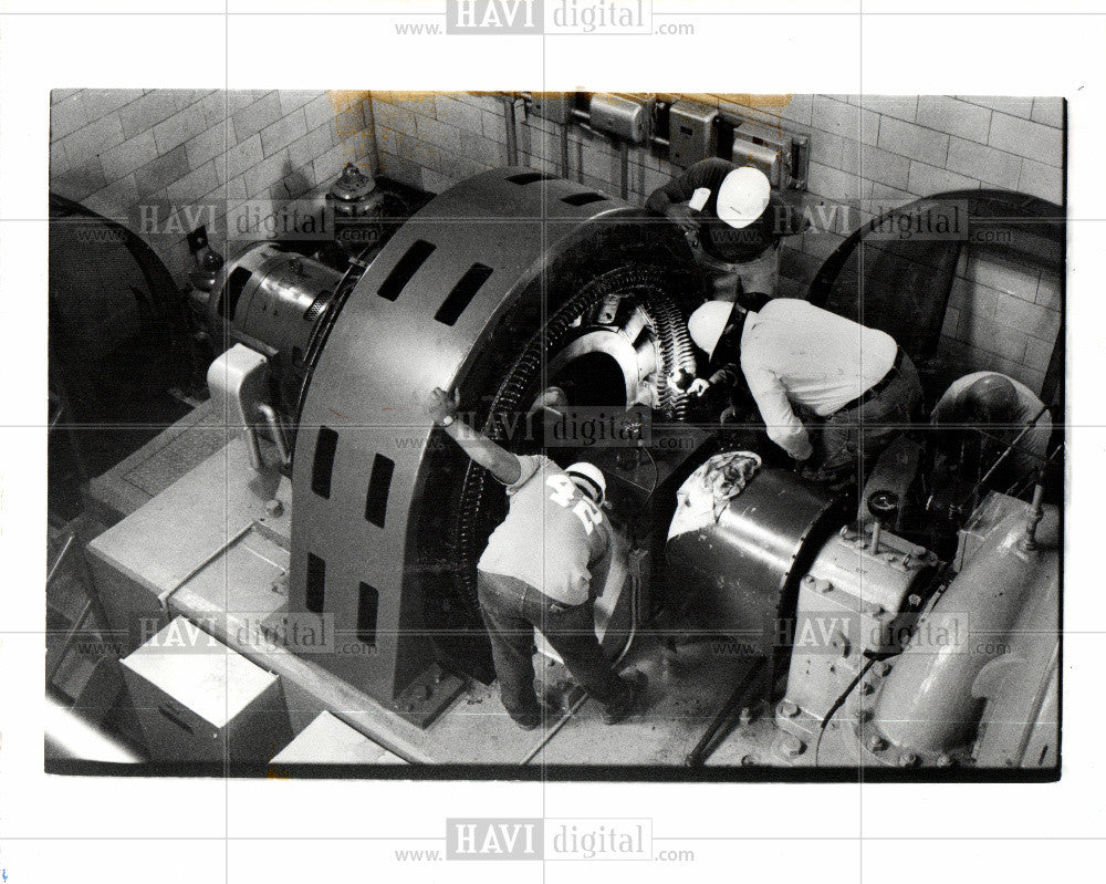 1989 Press Photo Springwells water treatment plant - Historic Images