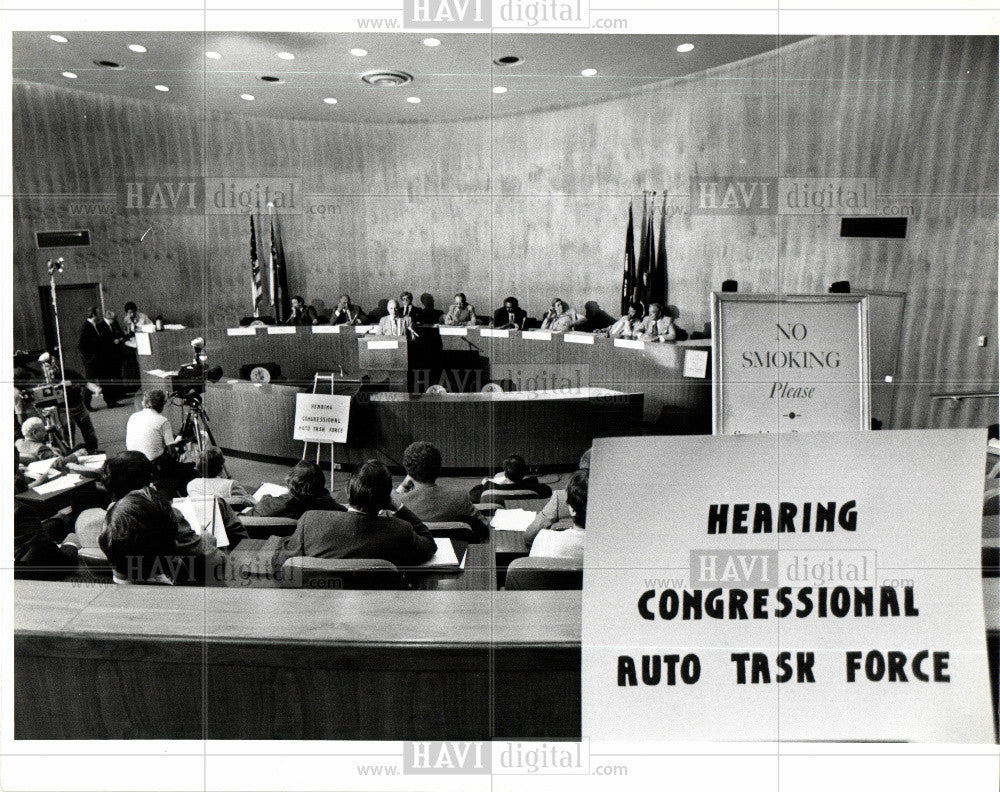 1989 Press Photo Hearing Congressional AutoTask Force - Historic Images