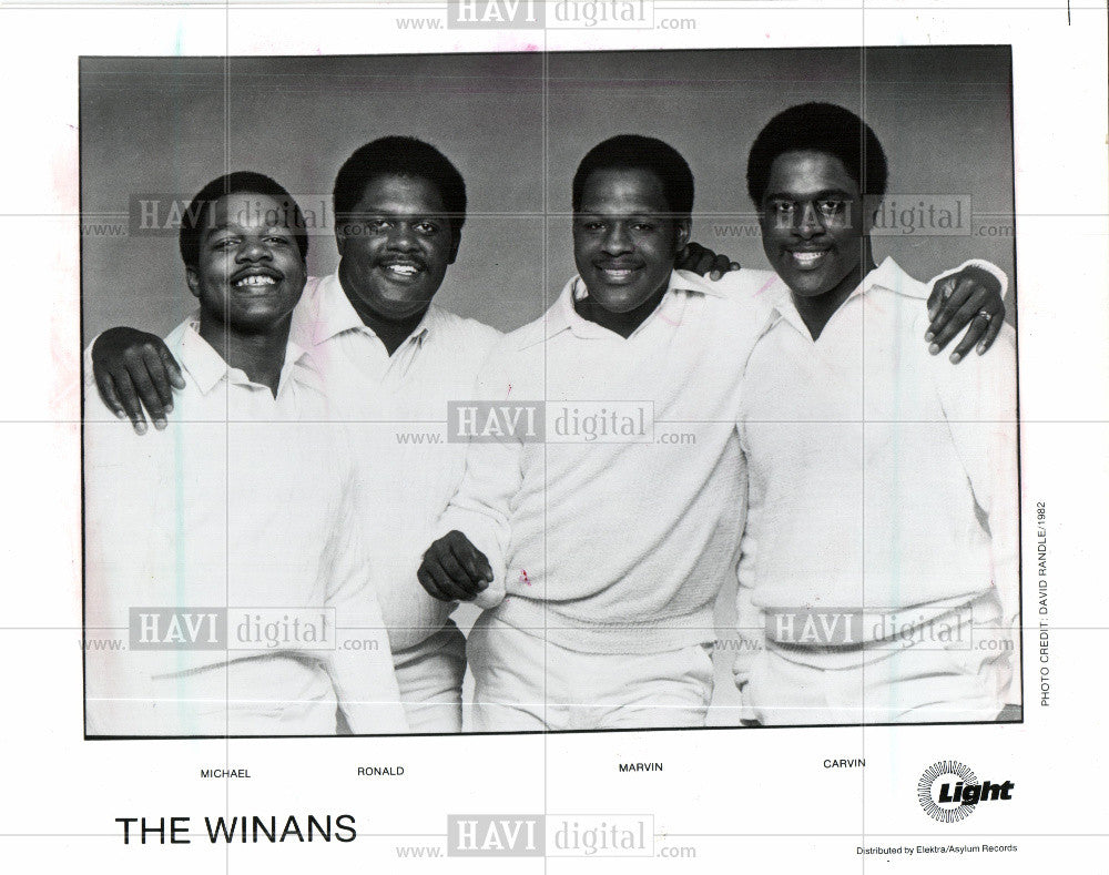 1987 Press Photo The winans muscians gospel singers - Historic Images