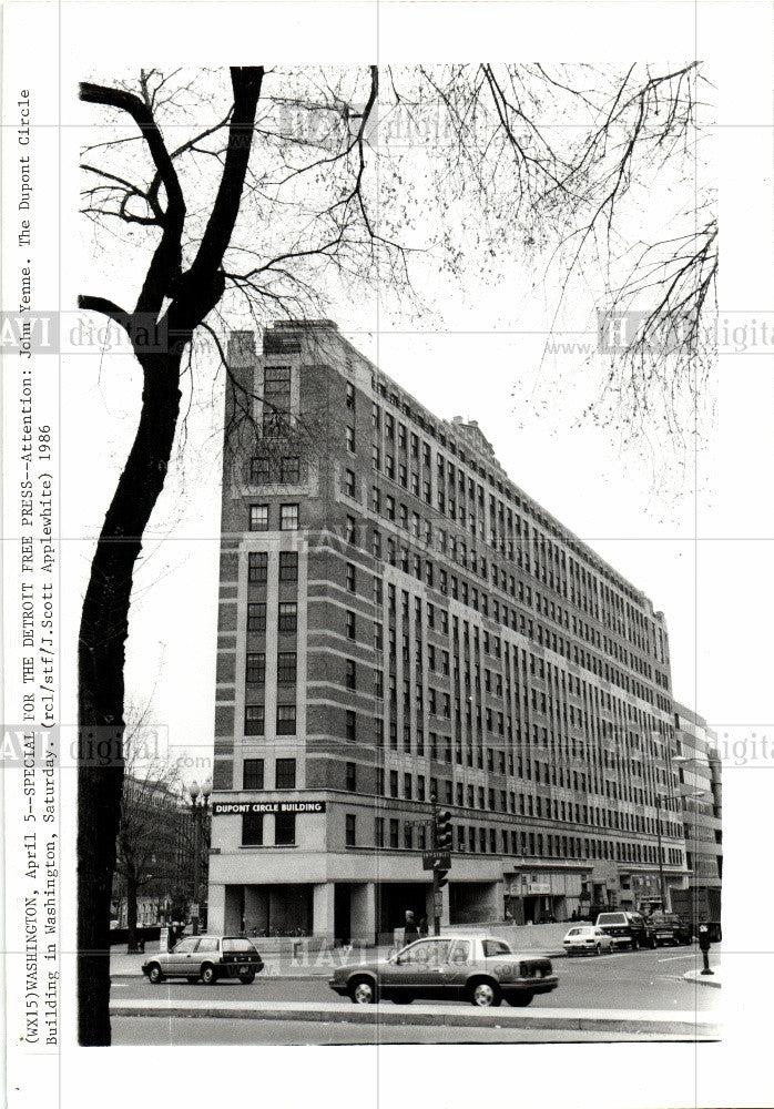 1986 Press Photo John Yenne The Dupont Circle Building - Historic Images