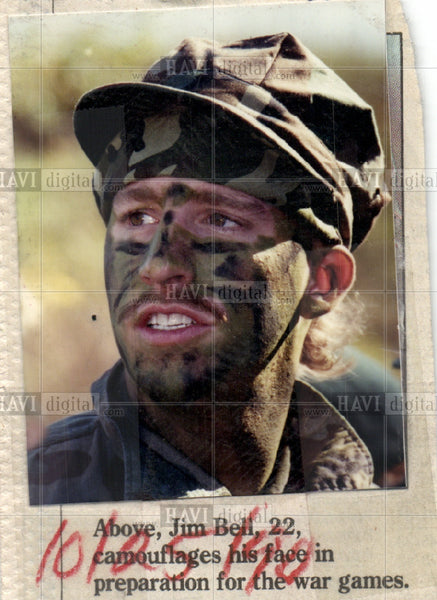 Press Photo war games Jim Bell - Historic Images