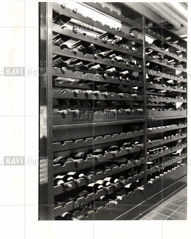 1986 Press Photo Wine cellar,Ford Mansion, - Historic Images