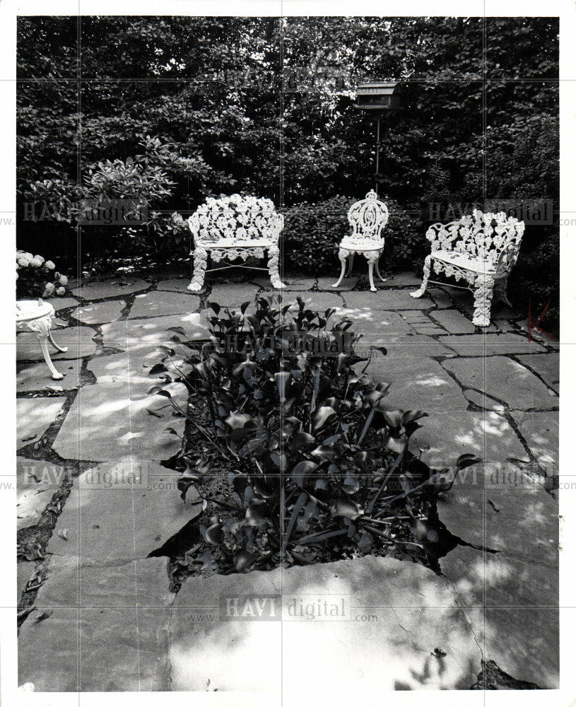 1974 Press Photo WHITE HOUSE GARDENS - Historic Images