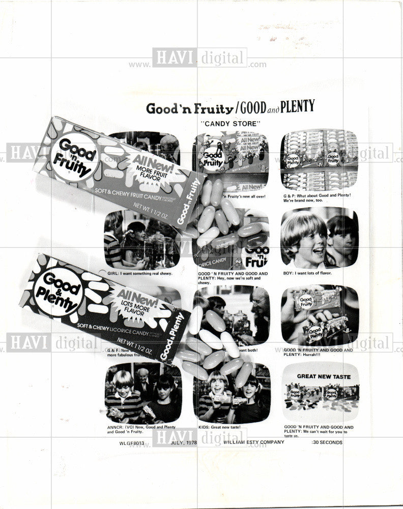 1978 Press Photo advertising good and plenty - Historic Images