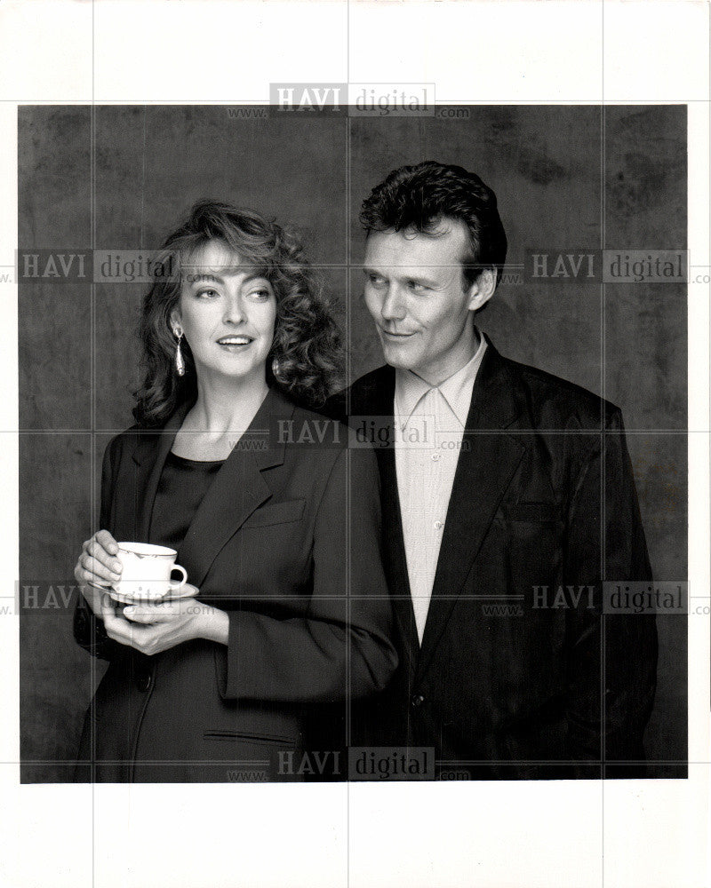 1991 Press Photo Tasters Choice Coffee Couple Romance - Historic Images
