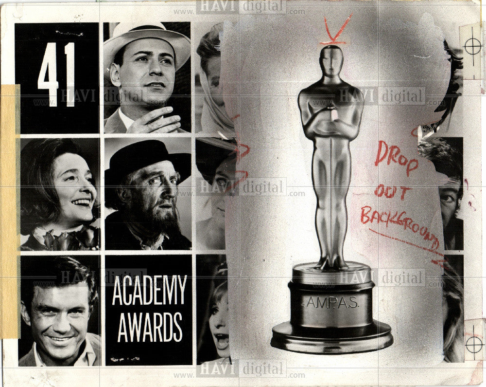 1969 Press Photo ABC Academy Awards 1969 - Historic Images