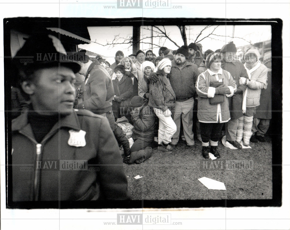 1989 Press Photo Abortion Demonstration + Poster - Historic Images