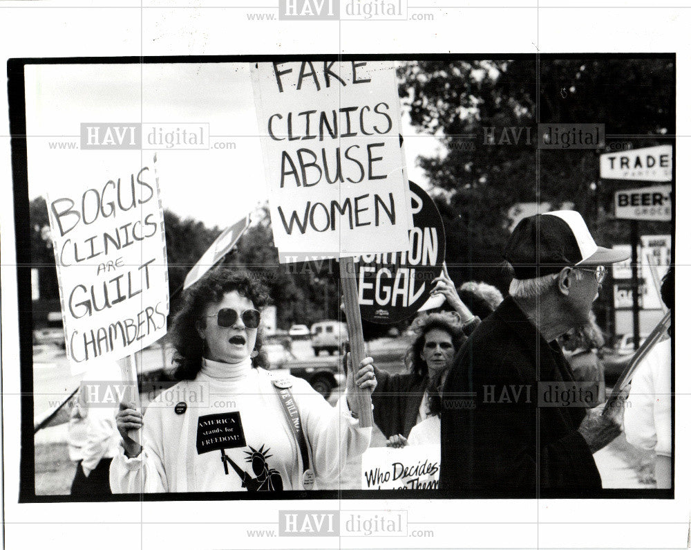 1991 Press Photo Picket Abortion Counseling Centers - Historic Images