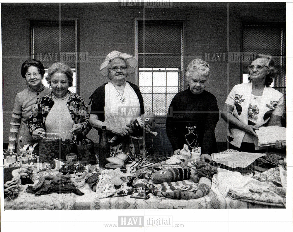 1976 Press Photo women, crafts, day care - Historic Images