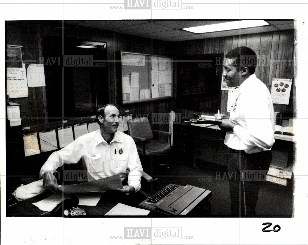1990 Press Photo Tony Jackson, Robert Wilks - Historic Images