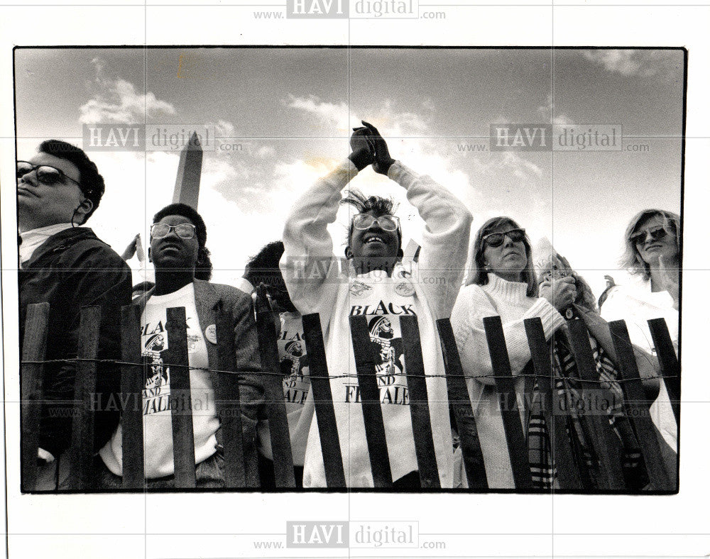 1989 Press Photo Abortion Demonstration and Protest - Historic Images