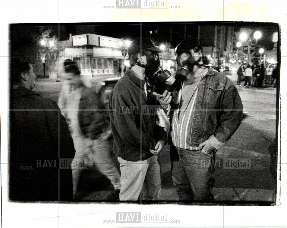 1991 Press Photo Ann Arbor street Michigan - Historic Images
