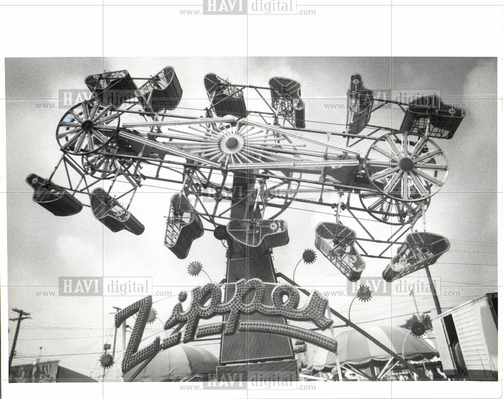 1978 Press Photo Amusement Park - Historic Images
