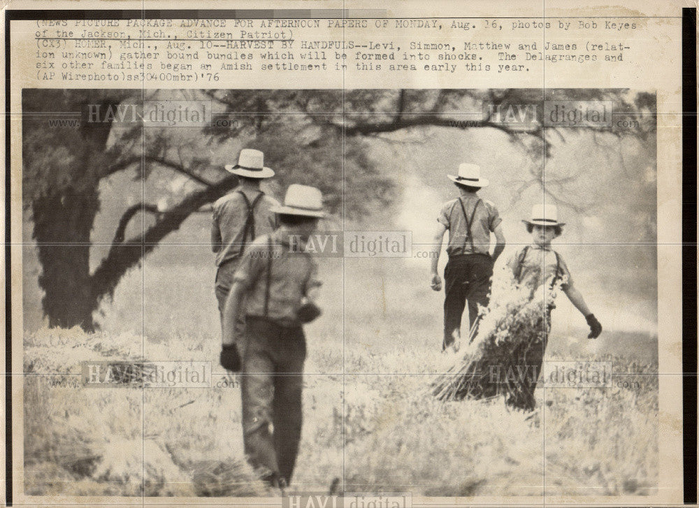 1976 Press Photo Levi, Sinnin, Matthew and James - Historic Images