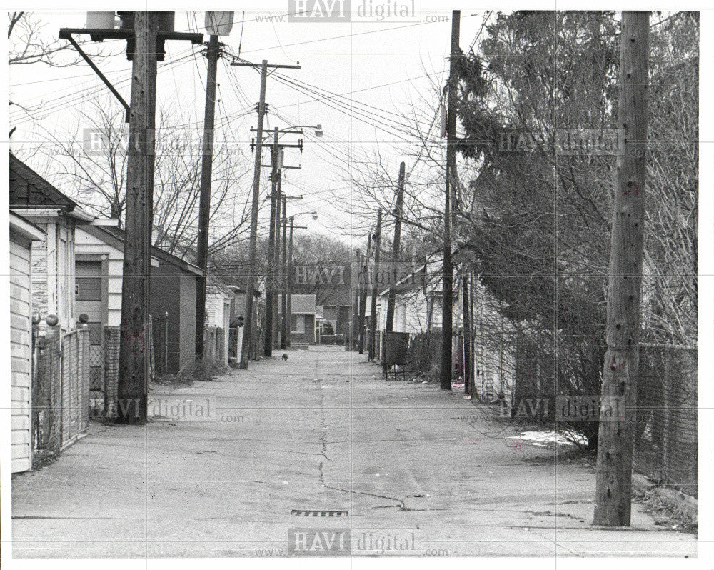 1976 Press Photo alley lane urban-reas - Historic Images