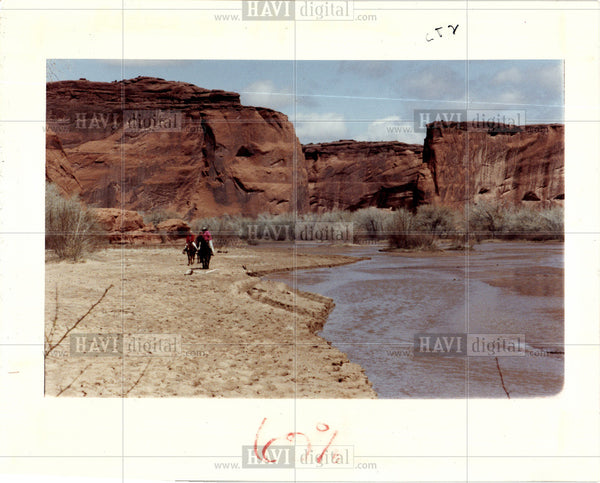 1992 Press Photo Canyon de Chelly  northeastern Arizona - Historic Images