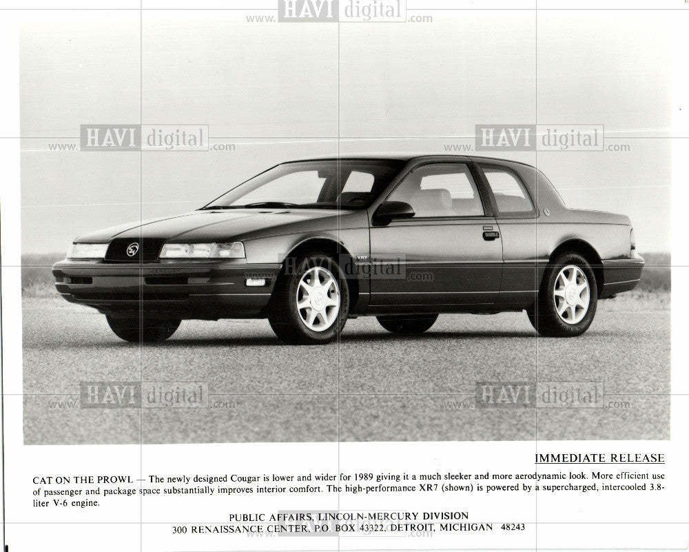 1988 press photo 1989 lincoln mercury cougar car historic images 1988 press photo 1989 lincoln mercury cougar car historic images publicscrutiny Gallery