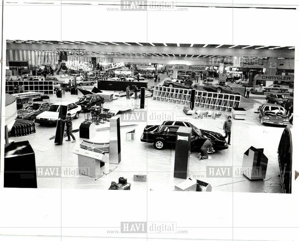 1986 Press Photo 1986 Detroit Auto Show, Cobo Hall - Historic Images