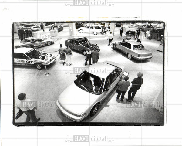 1991 Press Photo INTERNATIONAL AUTO SHOW - Historic Images