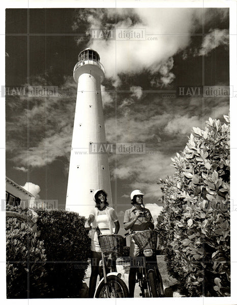 1987 Press Photo Lighthouse, bermuda - Historic Images