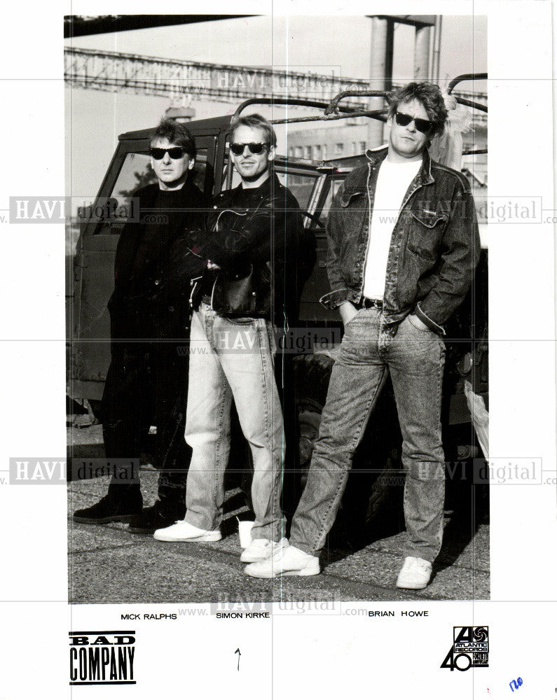 1988 Press Photo Bad Company McK ralphs Simon Kirke - Historic Images